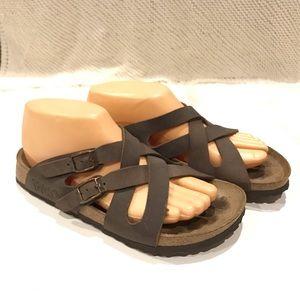 Birkenstock Birkis Size 6 Womens Brown Leather